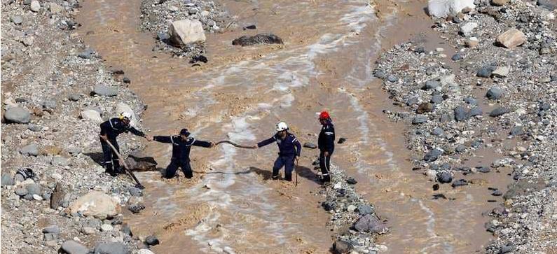 حصيلة ضحايا كارثة البحر الميت سيول الاردن