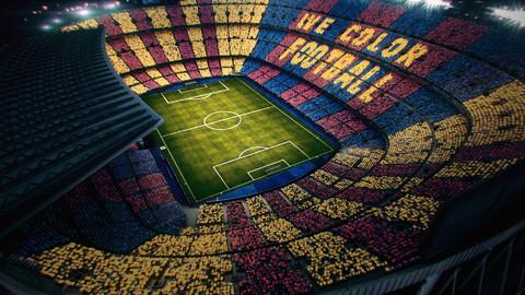 تيفو برشلونة لمواجهة ريال مدريد في مباراة الكلاسيكو