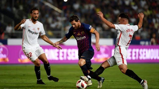 برشلونة يواجه اشبيلية في مباراة الصدارة