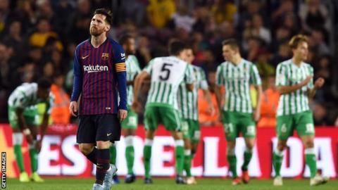 برشلونة يتعرض لخسارة مُذلة في الحضور الأول لقائد الفريق ليونيل ميسي العائد من الاصابة