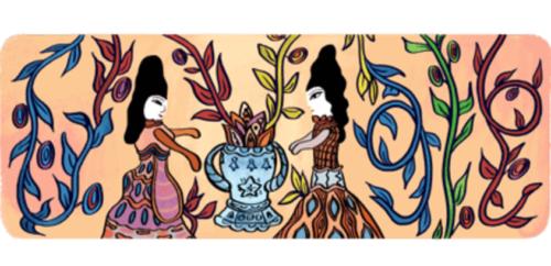 جوجل يحتفل بعيد ميلاد الفنانة الجزائرية التشكيلية باية محيي الدين