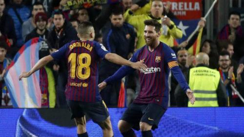 برشلونة ينهي 2018 في صدارة الدوري الإسباني
