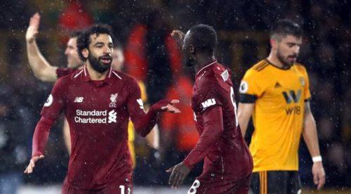 محمد صلاح يقود ليفربول للفوز على وولفز ويتصدر قائمة هدافي الدوري الانجليزي