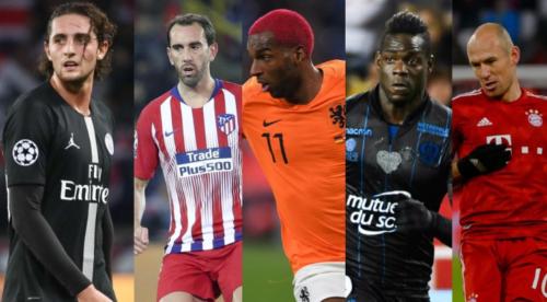 10 لاعبين تنتهي عقودهم مع أنديتهم خلال سوق الانتقالات الشتوية