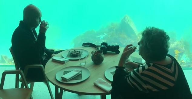 أول مطعم تحت الماء في أوروبا
