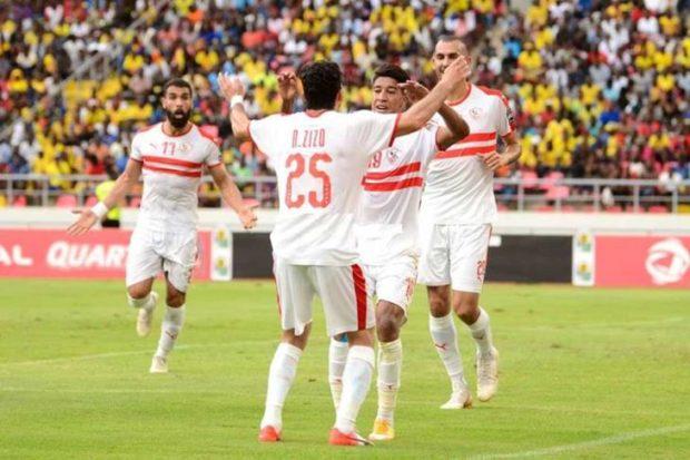 ملخص   نتيجة مباراة الزمالك ونصر حسين وترتيب المجموعة بالكونفدرالية