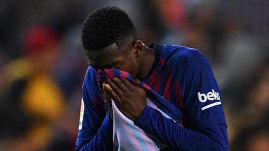 شكوك حول مشاركة عثمان ديمبلي في مباراة برشلونة أمام ليون