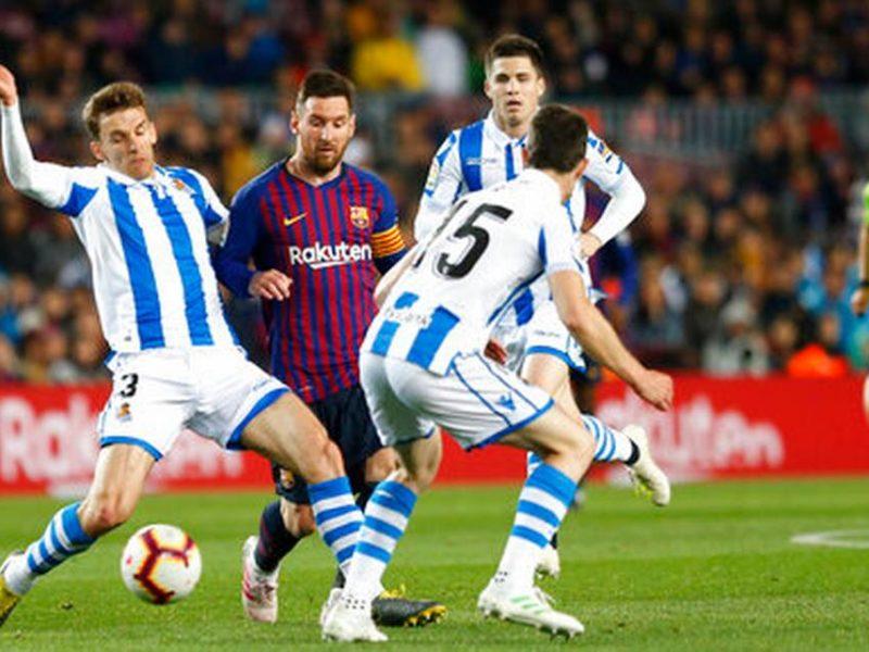 برشلونة يضع يده على لقب الليجا بعد فوزه على سوسيداد
