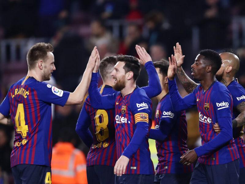 برشلونة يهزم ليفانتي ويتوج بطلاً للدوري الاسباني