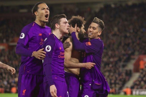 ليفربول يتصدر الدوري الانجليزي مؤقتا بثلاثية في مرمى ساوثهامبتون