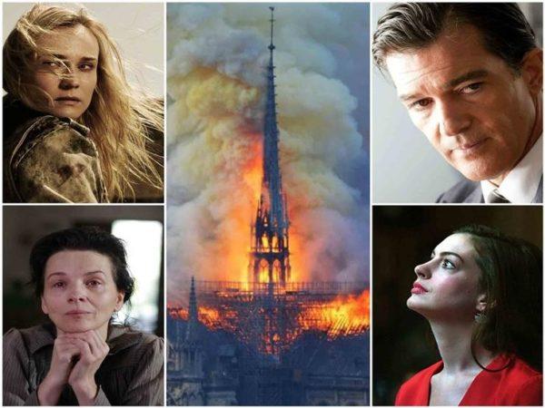 نجوم هوليود يشاركون فرنسا حزنها في كاتدرائية نوتردام