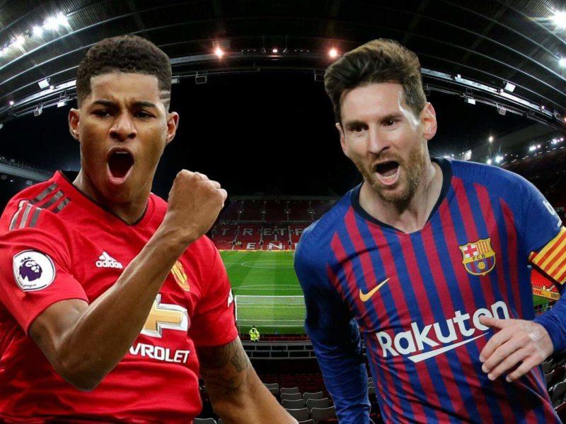برشلونة يواجه مانشستر يونايتد في أهم مباريات اليوم الاربعاء في دوري الأبطال