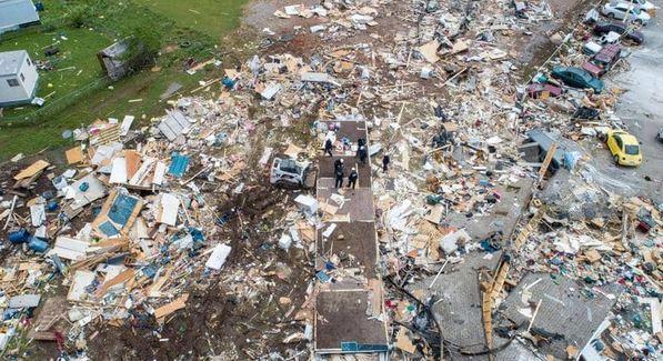كارثة خلال إعصار في ولاية أوكلاهوما الأمريكية