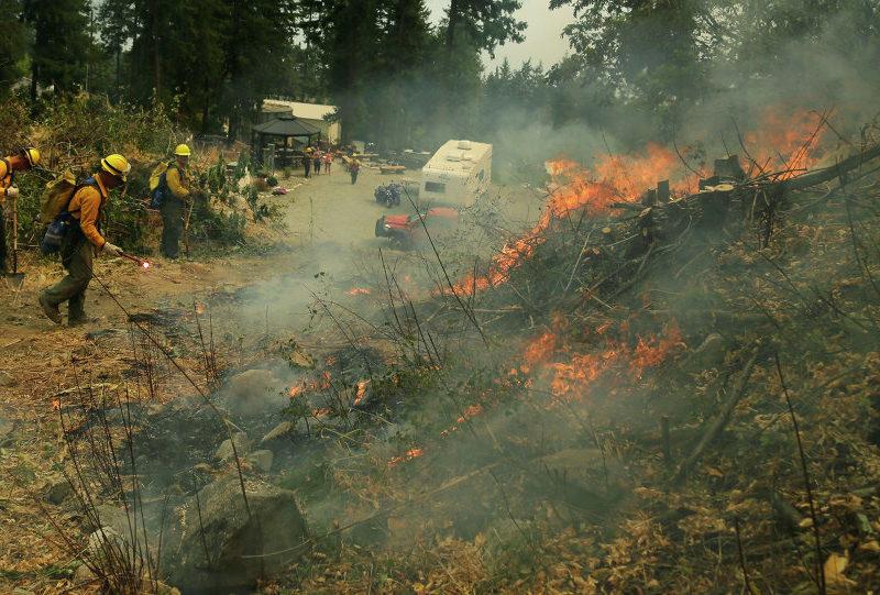حريق غابات في كاليفورنيا.. وإخلاء متنزهين للترفيه