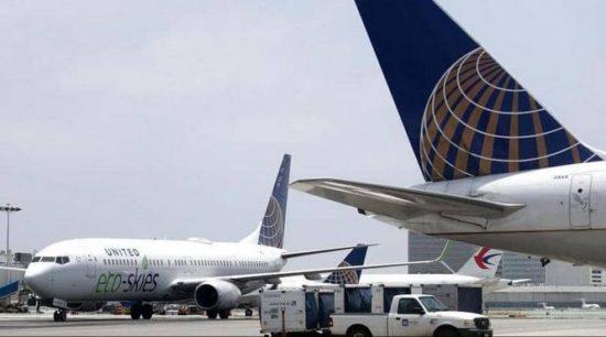 حادث إطارات مقلق لطائرة ركاب لحظة هبوطها في نيويورك